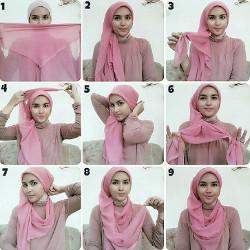 tutorial hijab wisuda untuk wajah bulat 14