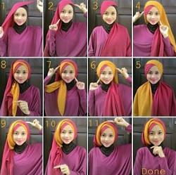 tutorial hijab wisuda segi empat 7