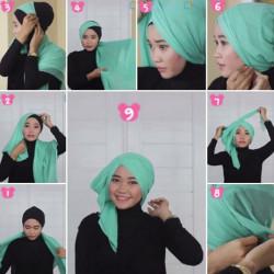 tutorial hijab wisuda segi empat 6