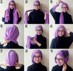 tutorial hijab wisuda segi empat 5
