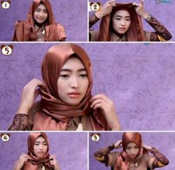 tutorial hijab wisuda segi empat 2
