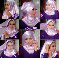 tutorial hijab wisuda segi empat 1