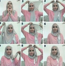 tutorial hijab simple kebaya 9