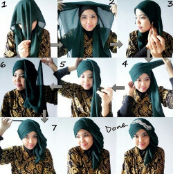 tutorial hijab simple kebaya 3