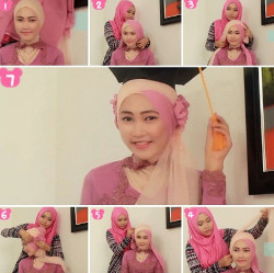 tutorial hijab simple kebaya 2