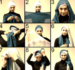 tutorial hijab simple kebaya 1