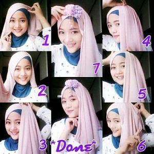 Hijab Pashmina Siffon Polos Simple Glamour