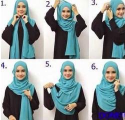 tutorial hijab simple pashmina 17
