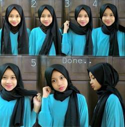 tutorial hijab simple pashmina 18