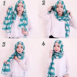 tutorial hijab simple pashmina 19