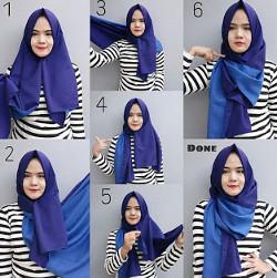 tutorial hijab simple pashmina 20