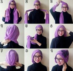 tutorial hijab simple pashmina 13