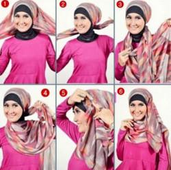tutorial hijab simple pashmina 14