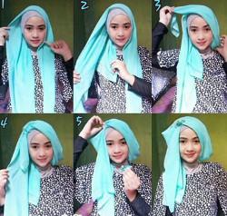 tutorial hijab simple pashmina 15