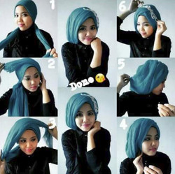 tutorial hijab simple pashmina 16