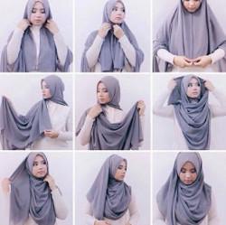 tutorial hijab simple pashmina 10