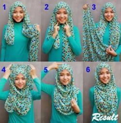 tutorial hijab simple pashmina 11
