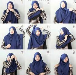 tutorial hijab simple pashmina 12