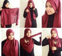 tutorial hijab simple pashmina 9