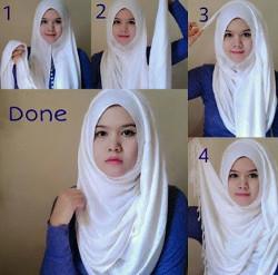 tutorial hijab simple pashmina 7