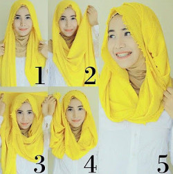 tutorial hijab simple pashmina 8
