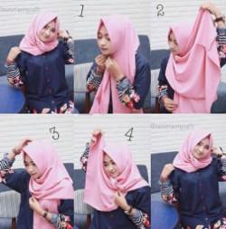 tutorial hijab simple pashmina 6