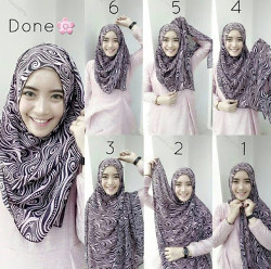 tutorial hijab simple pashmina 5