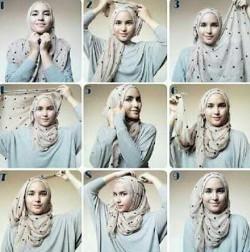 tutorial hijab simple pashmina 4