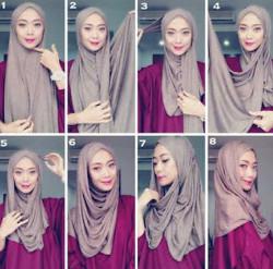 tutorial hijab simple pashmina 3