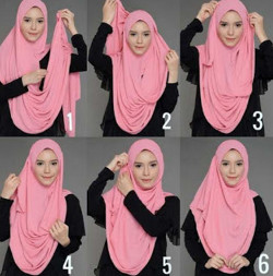 tutorial hijab simple pashmina 2