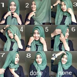tutorial hijab simple pashmina 1