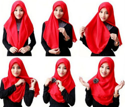 tutorial hijab simple segi empat 19