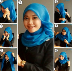 tutorial hijab simple segi empat 17