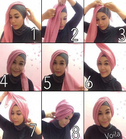 tutorial hijab simple segi empat 15