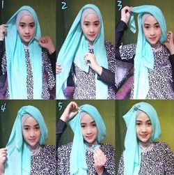 tutorial hijab simple segi empat 14