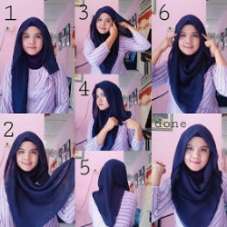 tutorial hijab simple segi empat 11
