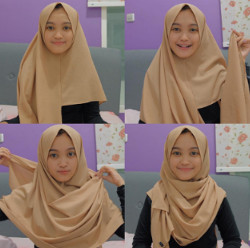 tutorial hijab simple segi empat 8