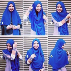 tutorial hijab simple segi empat 6