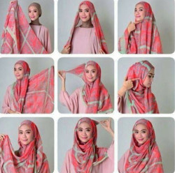 tutorial hijab simple segi empat 5