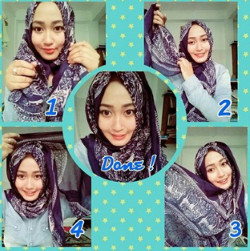 tutorial hijab simple segi empat 4