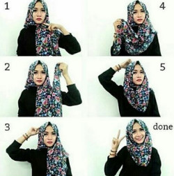 tutorial hijab simple segi empat 2