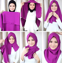 tutorial hijab simple segi empat 1