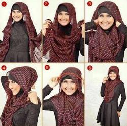 tutorial hijab pesta wajah bulat 4