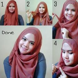 tutorial hijab pesta wajah bulat 5