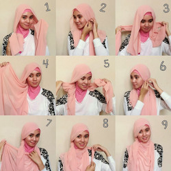 tutorial hijab pesta wajah bulat 6