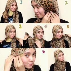 tutorial hijab pesta wajah bulat 7