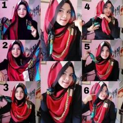 tutorial hijab pesta wajah bulat 10
