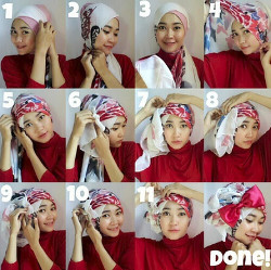 tutorial hijab pesta wajah bulat 3
