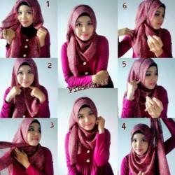 tutorial hijab pesta wajah bulat 2