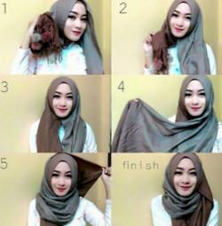 tutorial hijab pesta wajah bulat 1